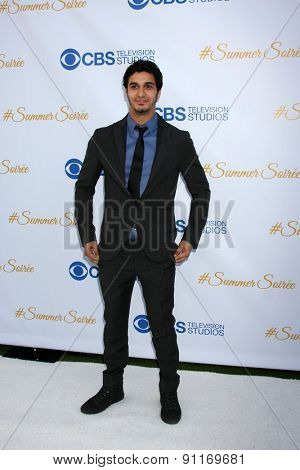 LOS ANGELES - MAY 18:  Elyes Gabel at the CBS Summer Soiree 2015 at the London Hotel on May 18, 2015 in West Hollywood, CA
