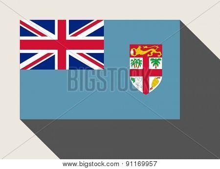 Fiji flag in flat web design style.