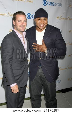 LOS ANGELES - MAY 18:  Chris O'Donnell, LL Cool J at the CBS Summer Soiree 2015 at the London Hotel on May 18, 2015 in West Hollywood, CA