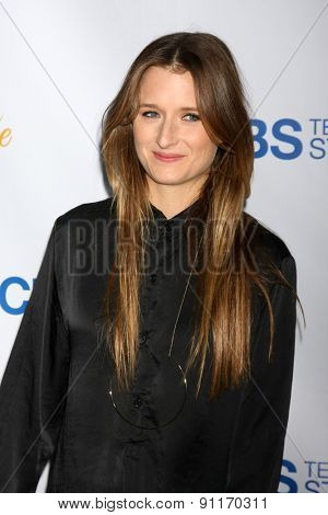 LOS ANGELES - MAY 18:  Grace Gummer at the CBS Summer Soiree 2015 at the London Hotel on May 18, 2015 in West Hollywood, CA