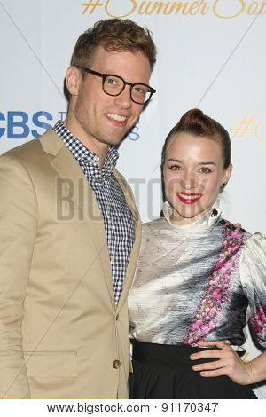 LOS ANGELES - MAY 18:  Barrett Foa, Renee Felice Smith at the CBS Summer Soiree 2015 at the London Hotel on May 18, 2015 in West Hollywood, CA