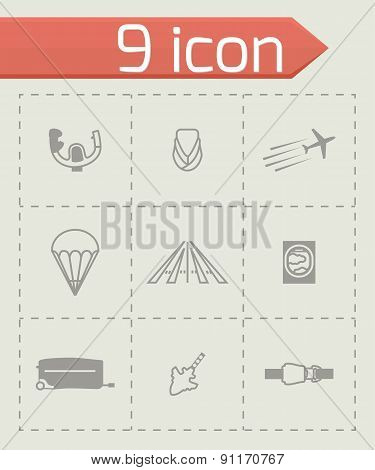 Vector Airplane icon set
