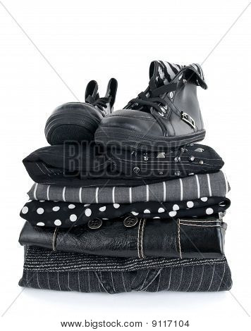 Stylish Black Clothing And Boots