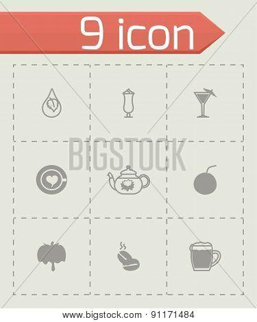 Vector Beverages icon set
