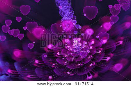 Violet-pink Flower