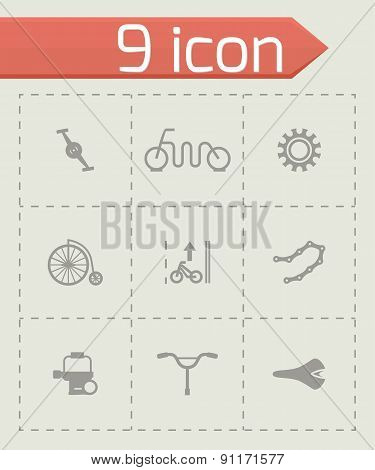 Vector Bicycle icon set
