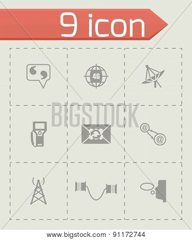 Vector Communication icon set