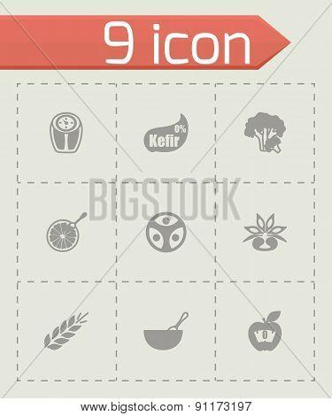 Vector Diet icon set