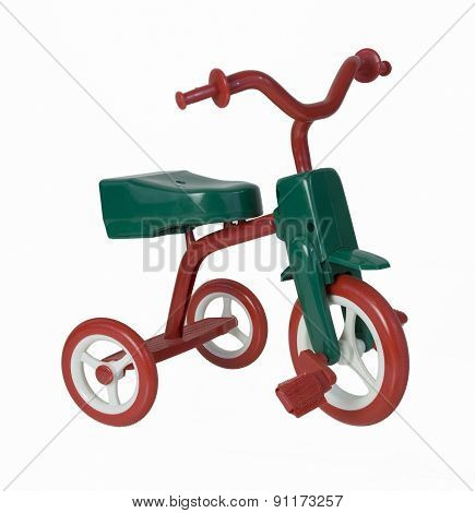 Red And Green Tricycle