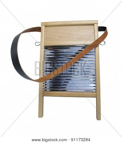 Metal And Wood Washboard