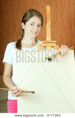 Painter  In Living Room