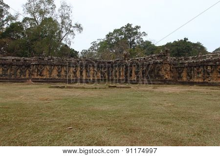 Terrace of Elephants, Angkor Thom, Siem Reap, Cambodia