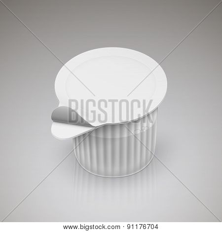 Coffee Creamer Over Grey Background