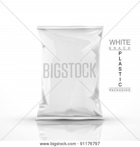 White Snack Plastic Packaging