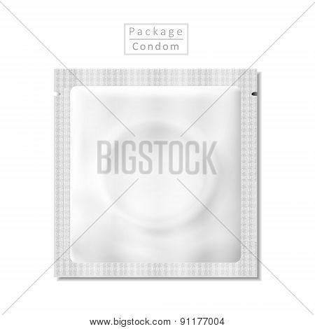 Blank Condom Pack