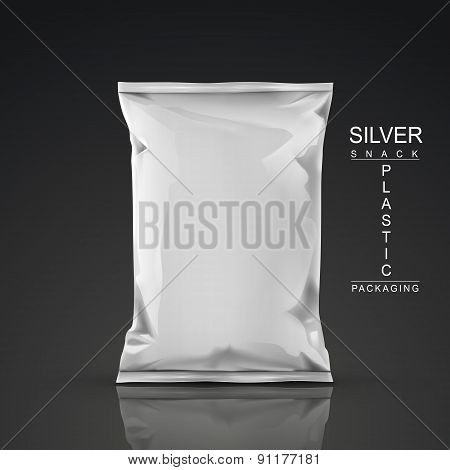 Silver Snack Plastic Packaging