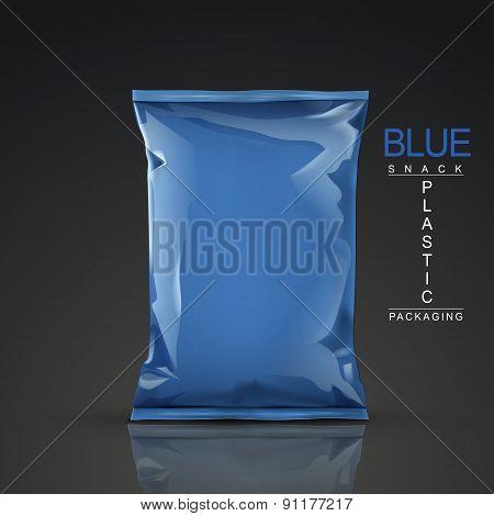 Blue Snack Plastic Packaging