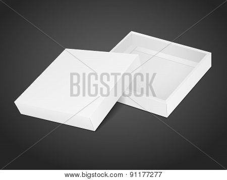 Blank Opened Cardboard Box