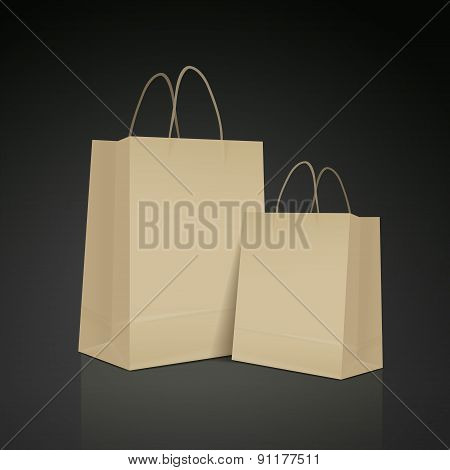 Kraft Paper Bag Set