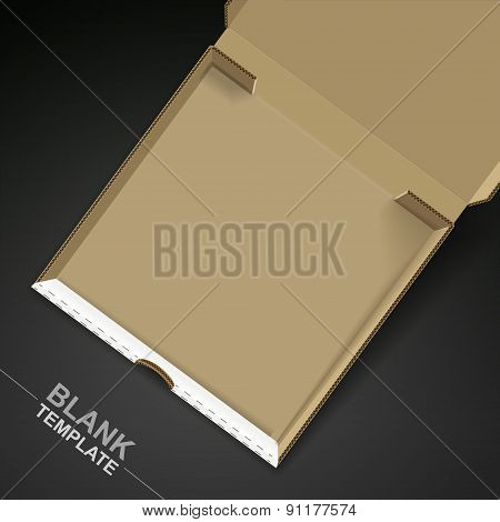 Open Pizza Box Template