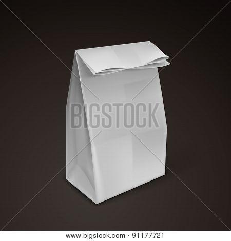 Blank Gray Paper Bag