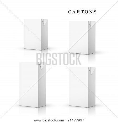 White Drink Cartons Set