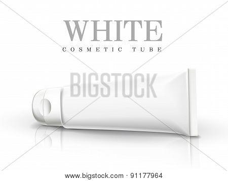 White Cosmetic Tube
