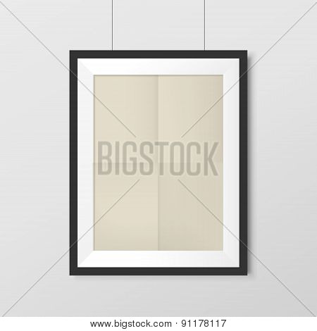 Elegant Blank Photo Frame With Craft Paper