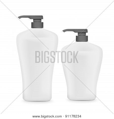 Blank Shampoo Bottle Set