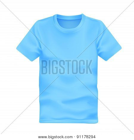 Man's T-shirt In Blue