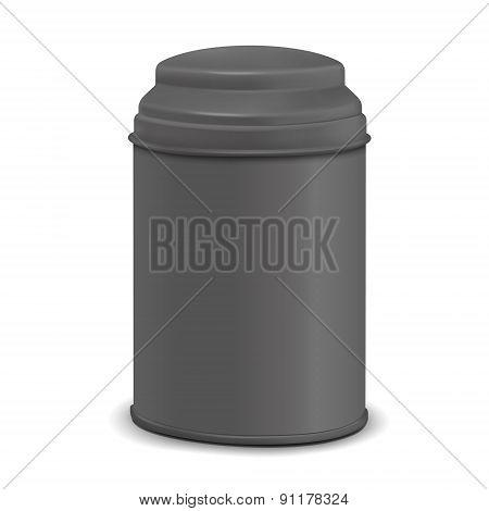 Black Round Tin Packaging