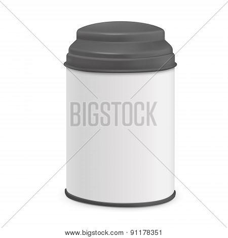 White Round Tin Packaging
