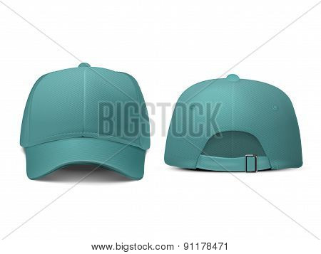 Blank Hat In Turquoise