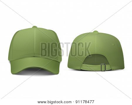 Blank Hat In Green