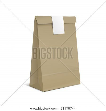 Kraft Paper Bag With Sticker