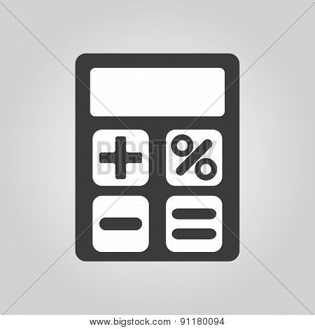 The Calculator Icon. Accounting Symbol. Flat