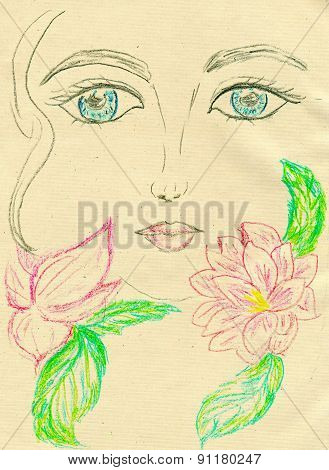 Painted Stylized Face