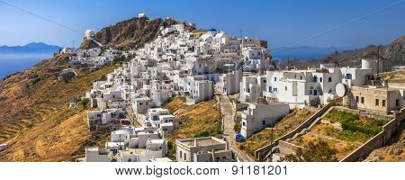 Scenery of Greek islands - Serifos, view with Hora village