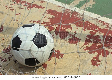 Ball In To The Futsal Goal