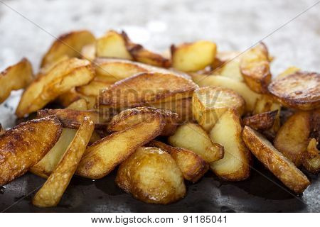 Fresh Homemade Fried Potato Wedges