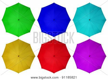 Colorful Umbrellas Isolated