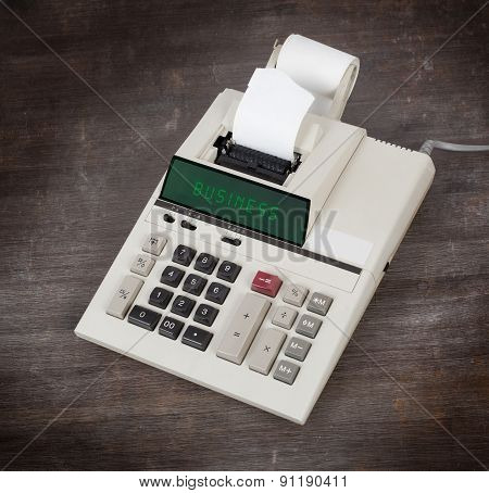 Old Calculator - Business