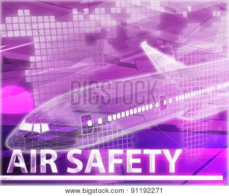 Abstract background digital collage concept illustration air travel safety