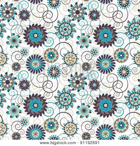 Ornamental ethnic floral pattern