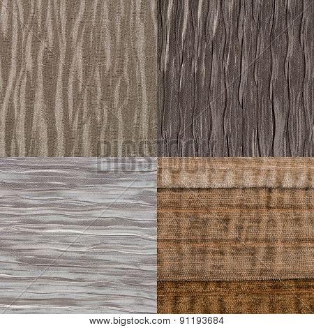 Set Of Brown Fabric Samples