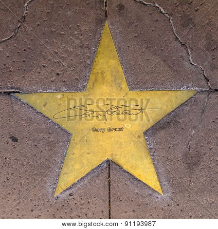 Star Of Gary Grant  On Sidewalk In Phoenix, Arizona.