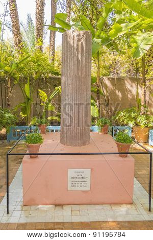 MARRAKESH, MOROCCO, APRIL 4, 2015: Majorelle Gardens - Yves Saint Laurent Monument