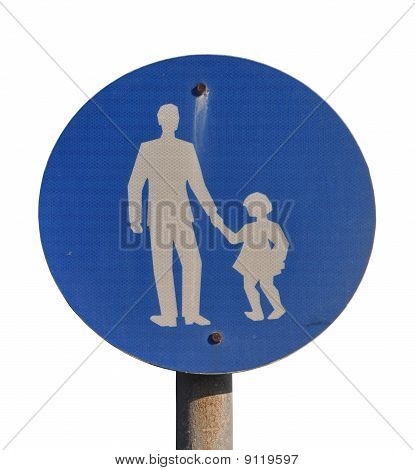 Child Pedestrian Sign