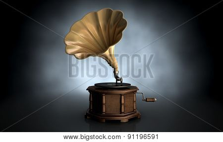 Gramophone Dark Background