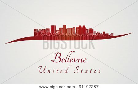 Bellevue Skyline In Red